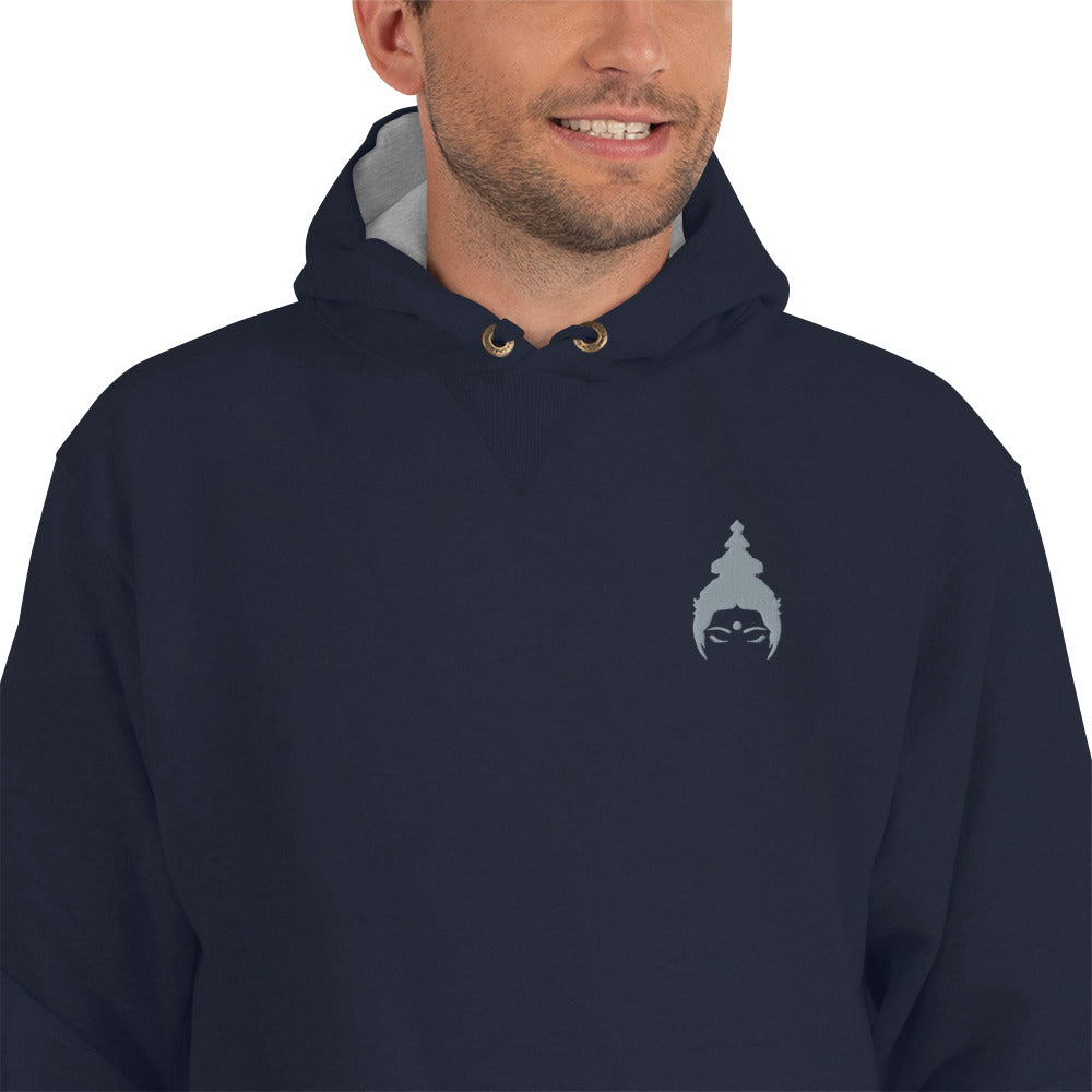 """MOKSHAMAMA"" Hoodie by MOKSHAMAN®, embroidered"