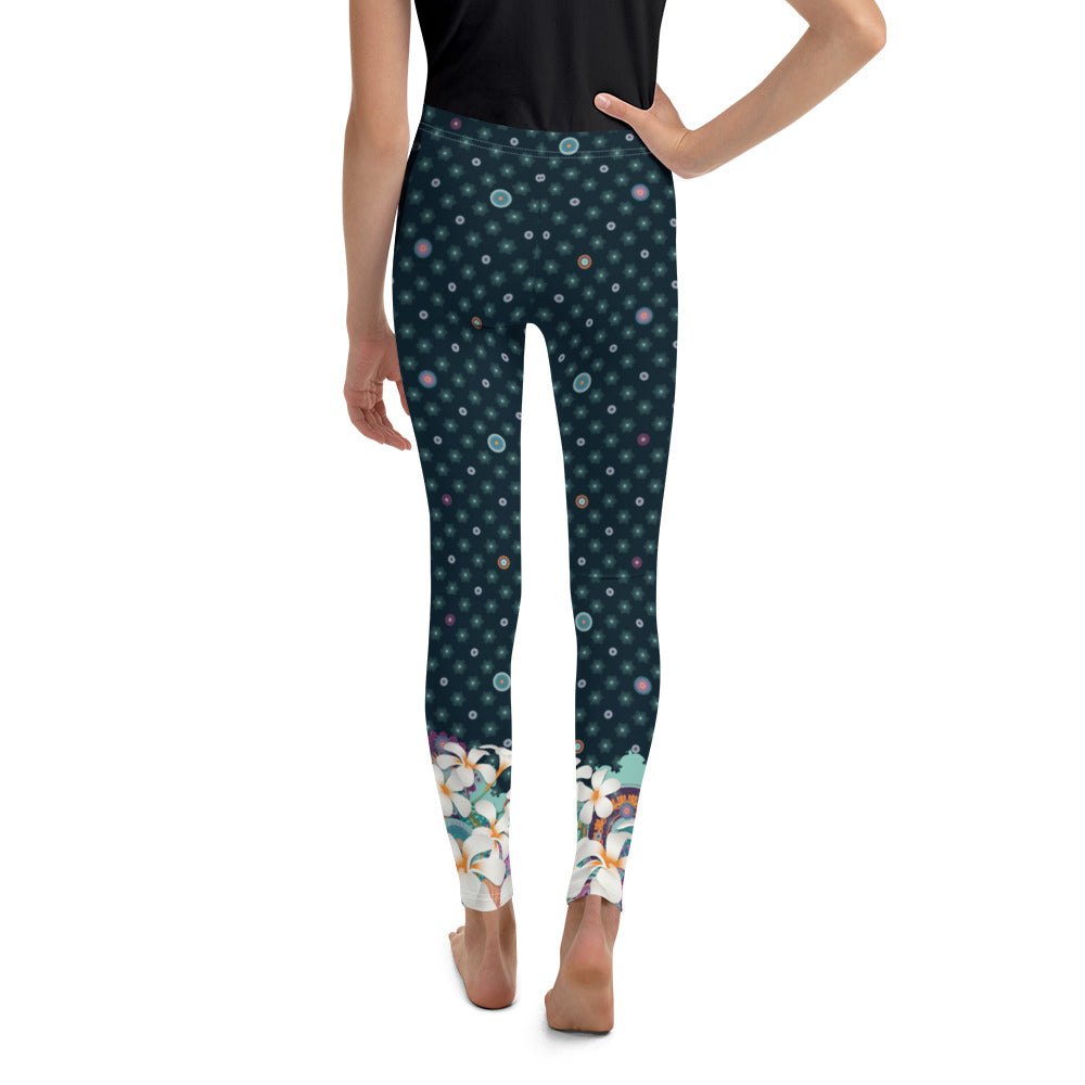 """VANYA"" Youth Leggins in dark petrol"