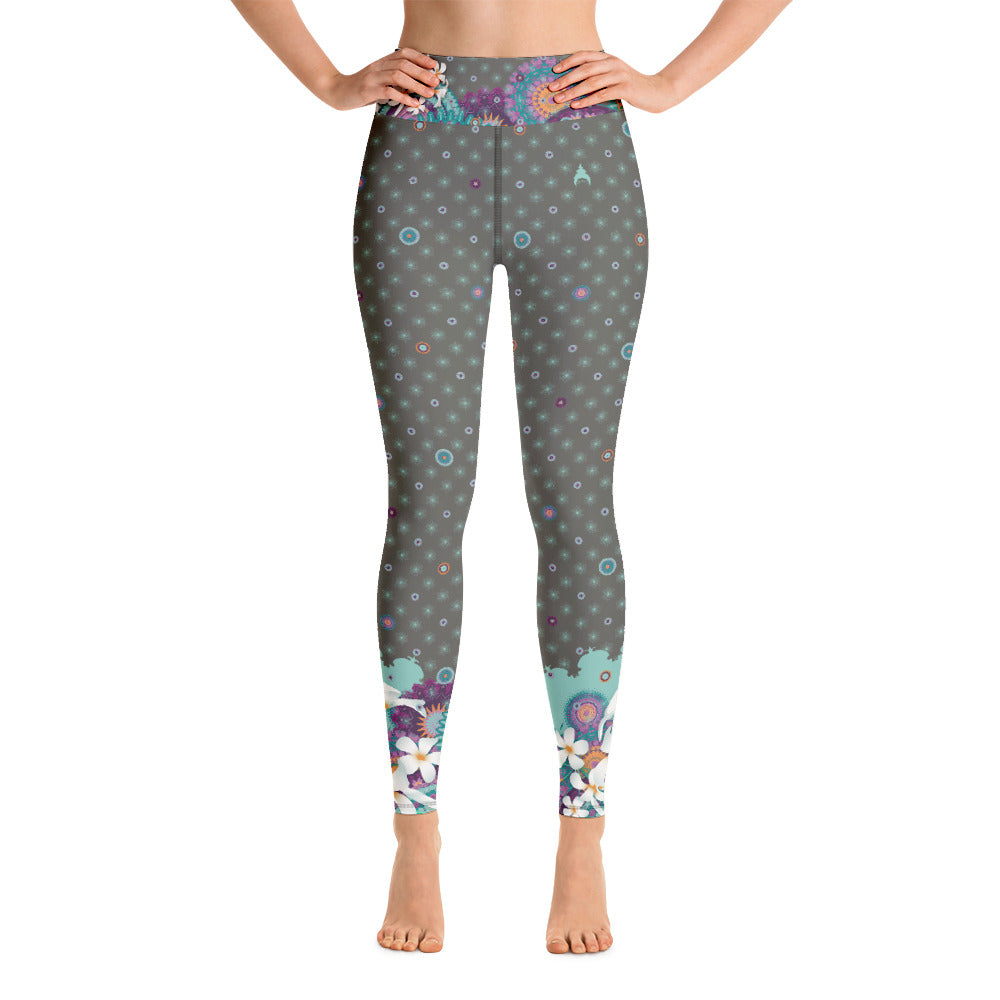 """Zuri"" Yoga Leggins in colored khaki"