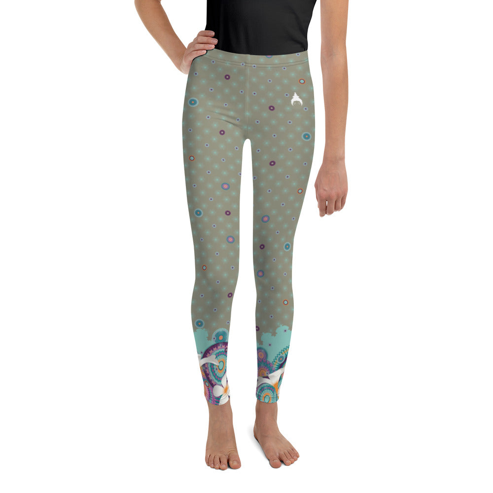 Youth Leggings by MOKSHAMAN® in greige