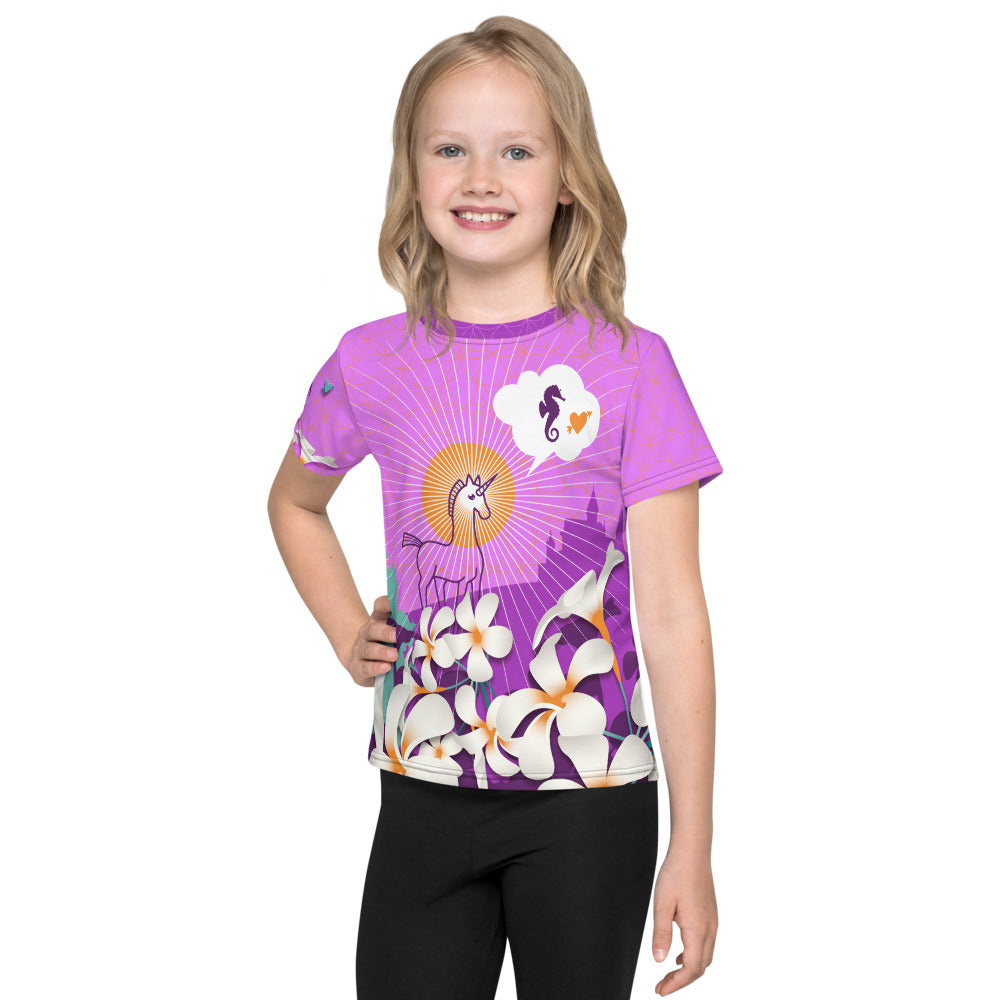 """Sea Uni Horse Corn"" Kid's T-Shirt by MOKSHAMAN®"