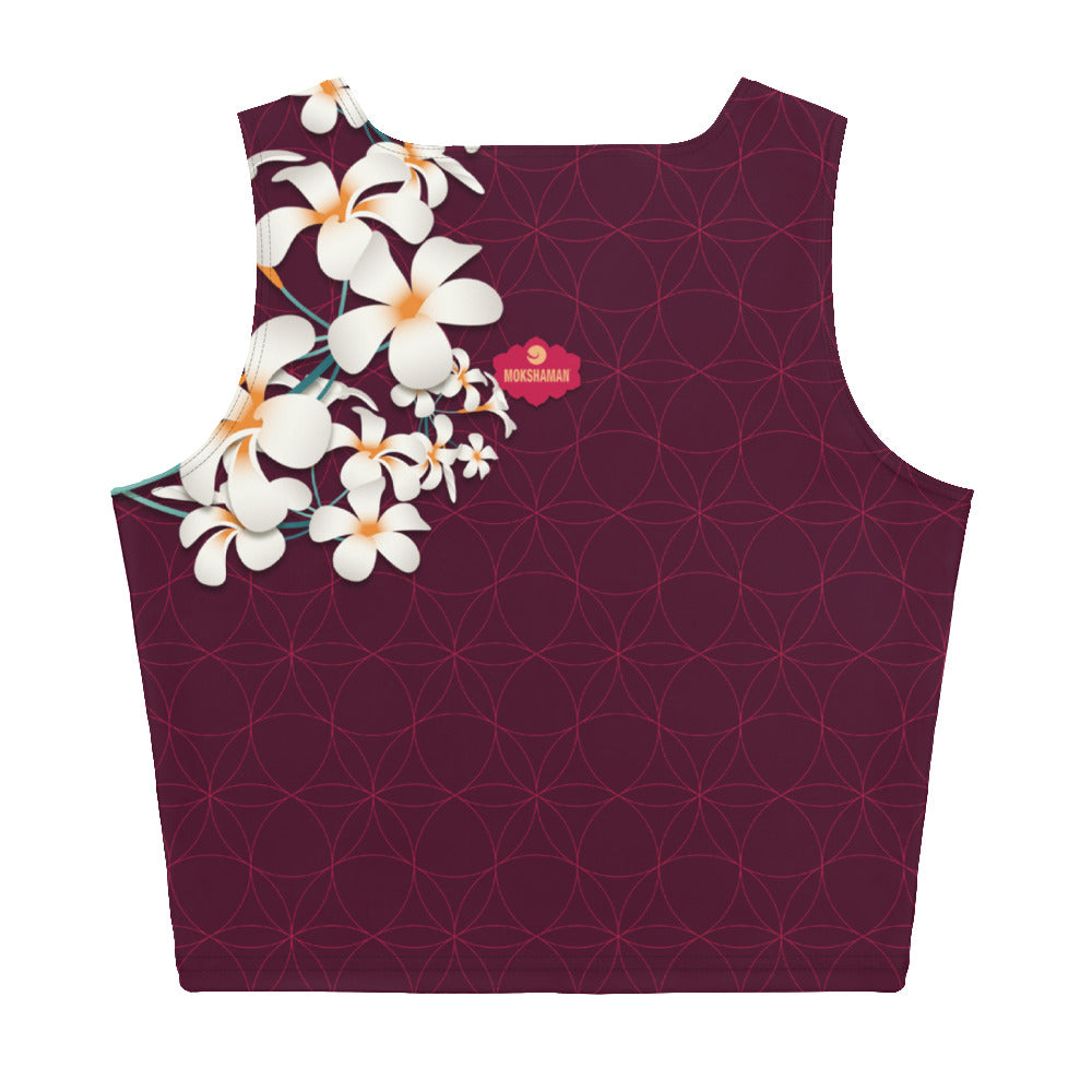 """OMAJA"" Crop Top in burgundy"