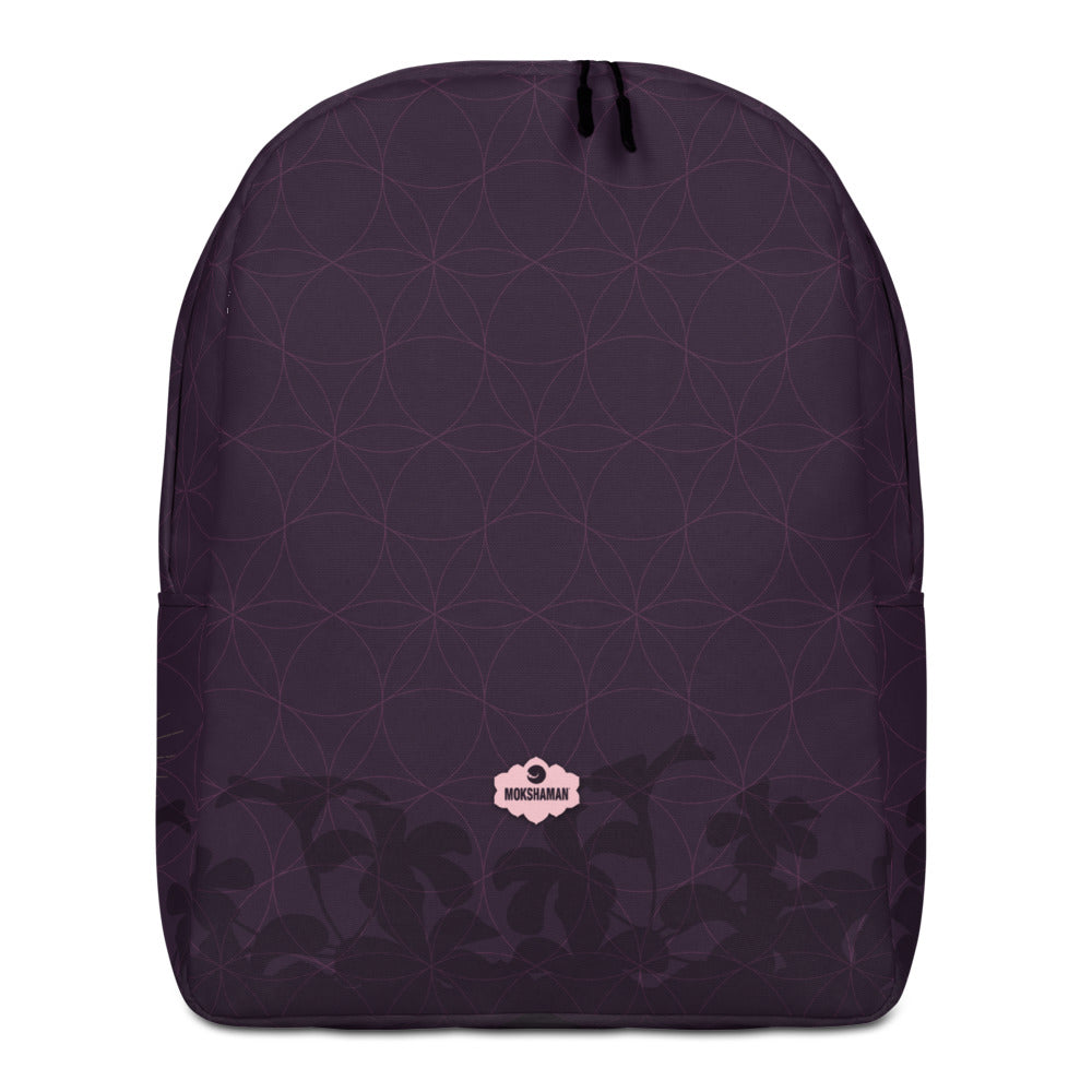 """STRESSLESS"" Optimalist Backpack by MOKSHAMAN® in eggplant"
