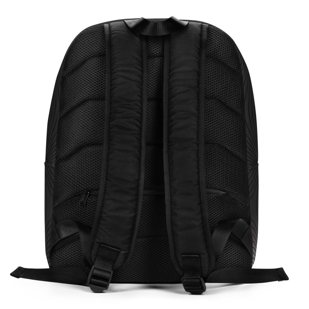 """BLOOM"" Optimalist Backpack by MOKSHAMAN® in charcoal"