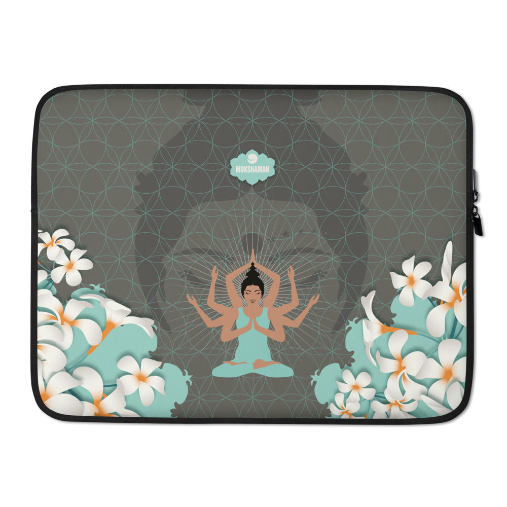 """STAY CENTERED"" Laptop-Hülle in kühlem Mint"