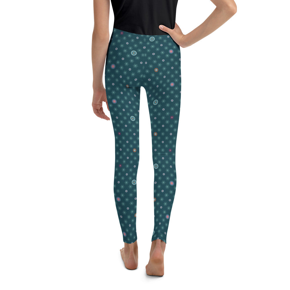 """FARIDA"" Youth Leggins in petrol"