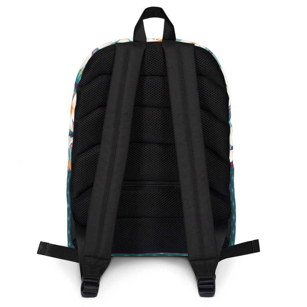 """BACK TO SCHOOL"" Schlanker Rucksack in Petrol"