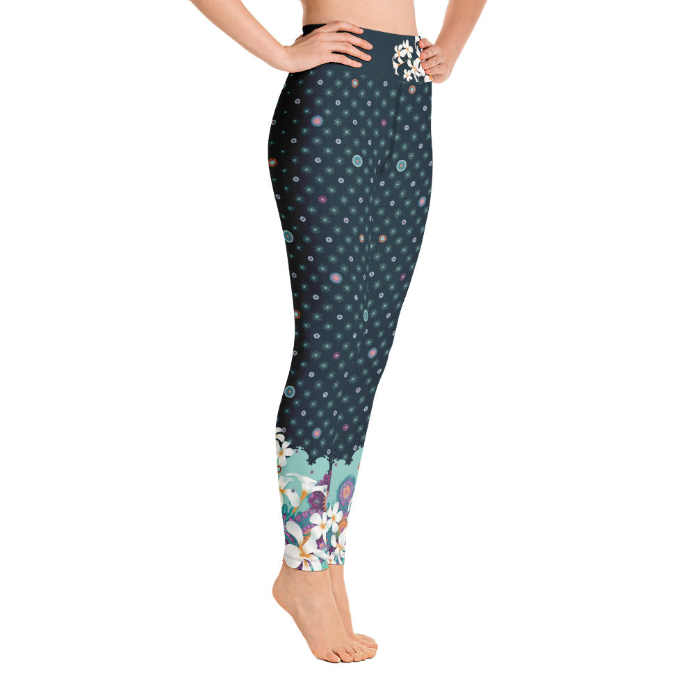 """PAVANI"" Yoga Leggins in dark petrol"
