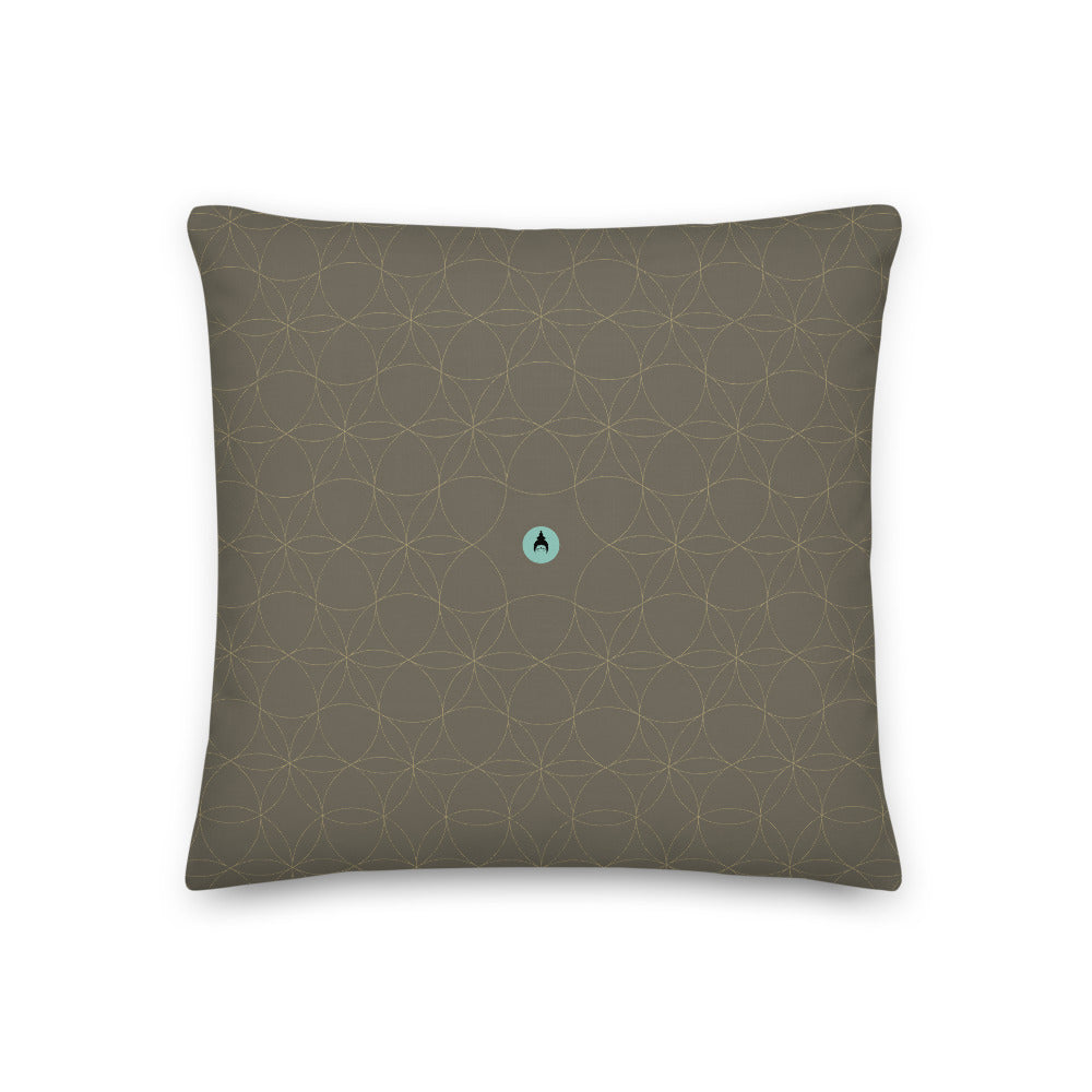 """Urban Jungle"" Premium Pillow by MOKSHAMAN® in khaki & greige"