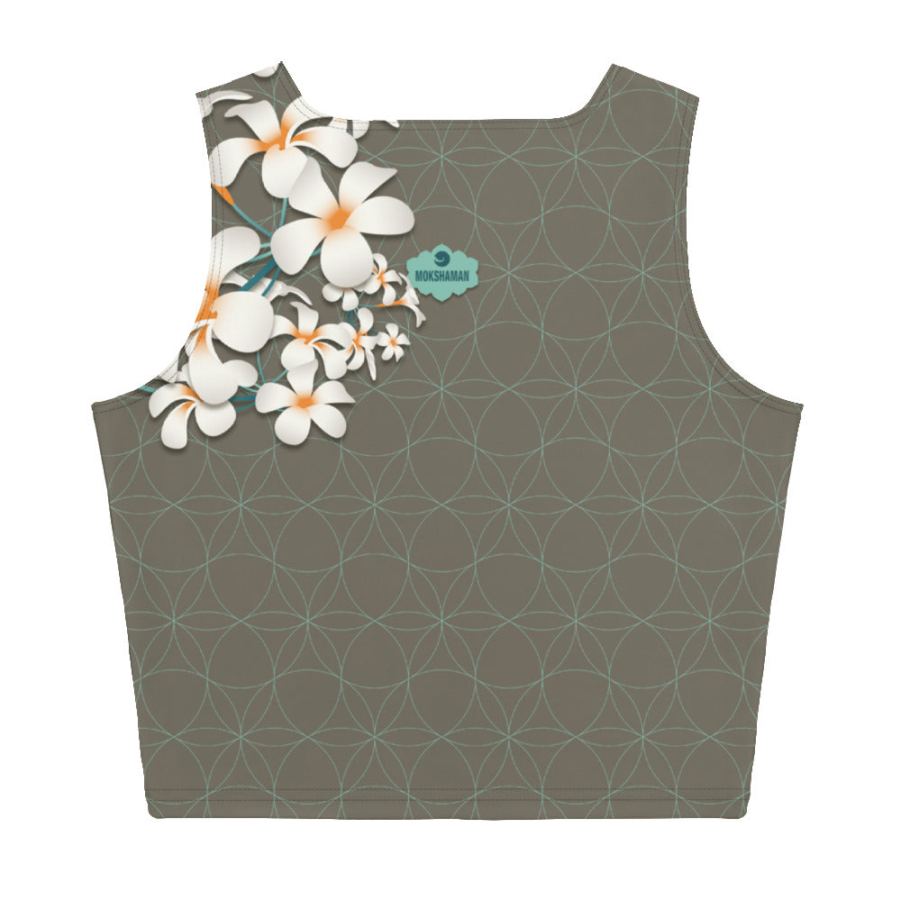"""Kyra"" Crop Top in khaki & mint"