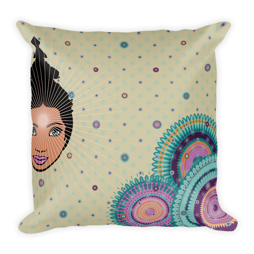 """Relax in greige"" Premium Pillow by MOKSHAMAN®"