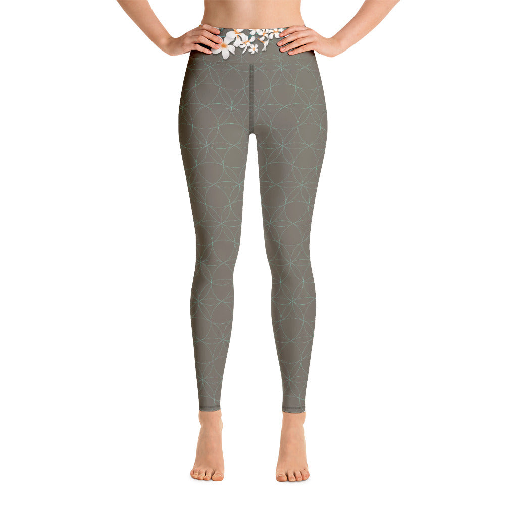 """KYRA"" Yoga Leggins in khaki & mint"