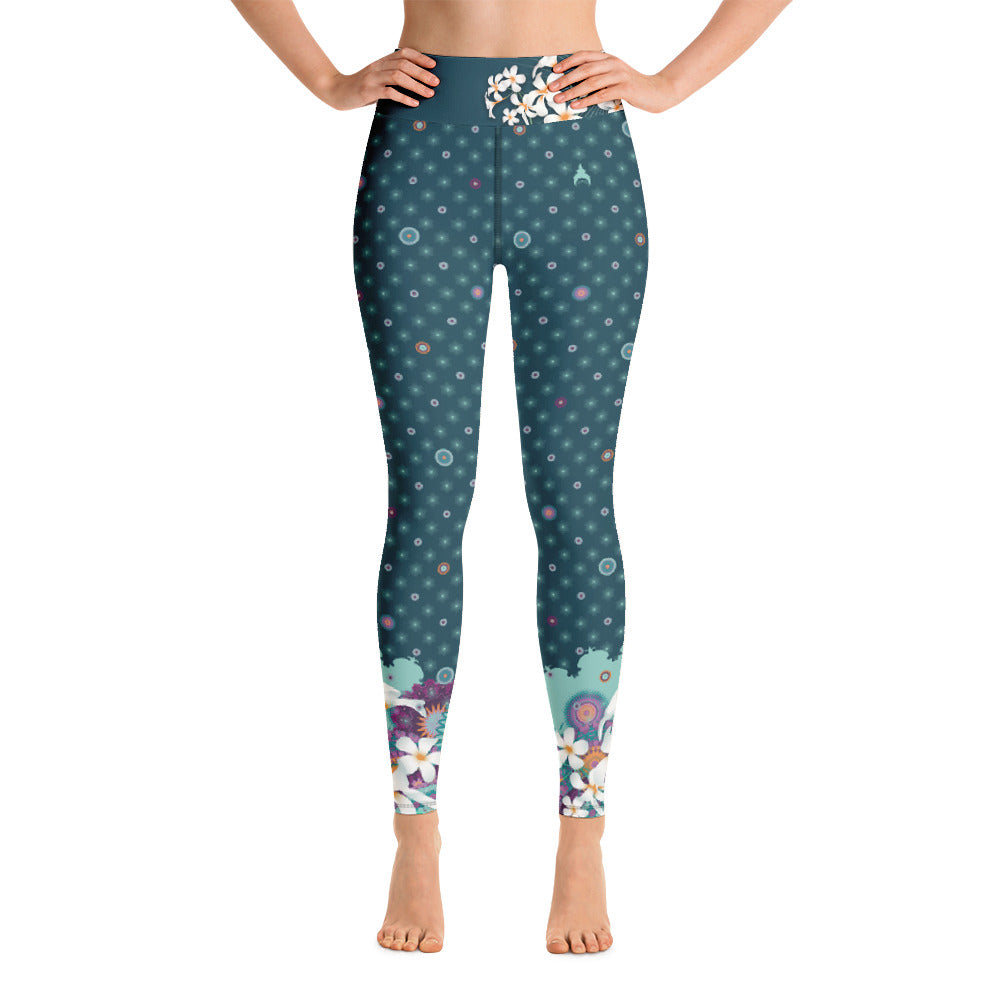 """Ekta"" Yoga Leggins in petrol"