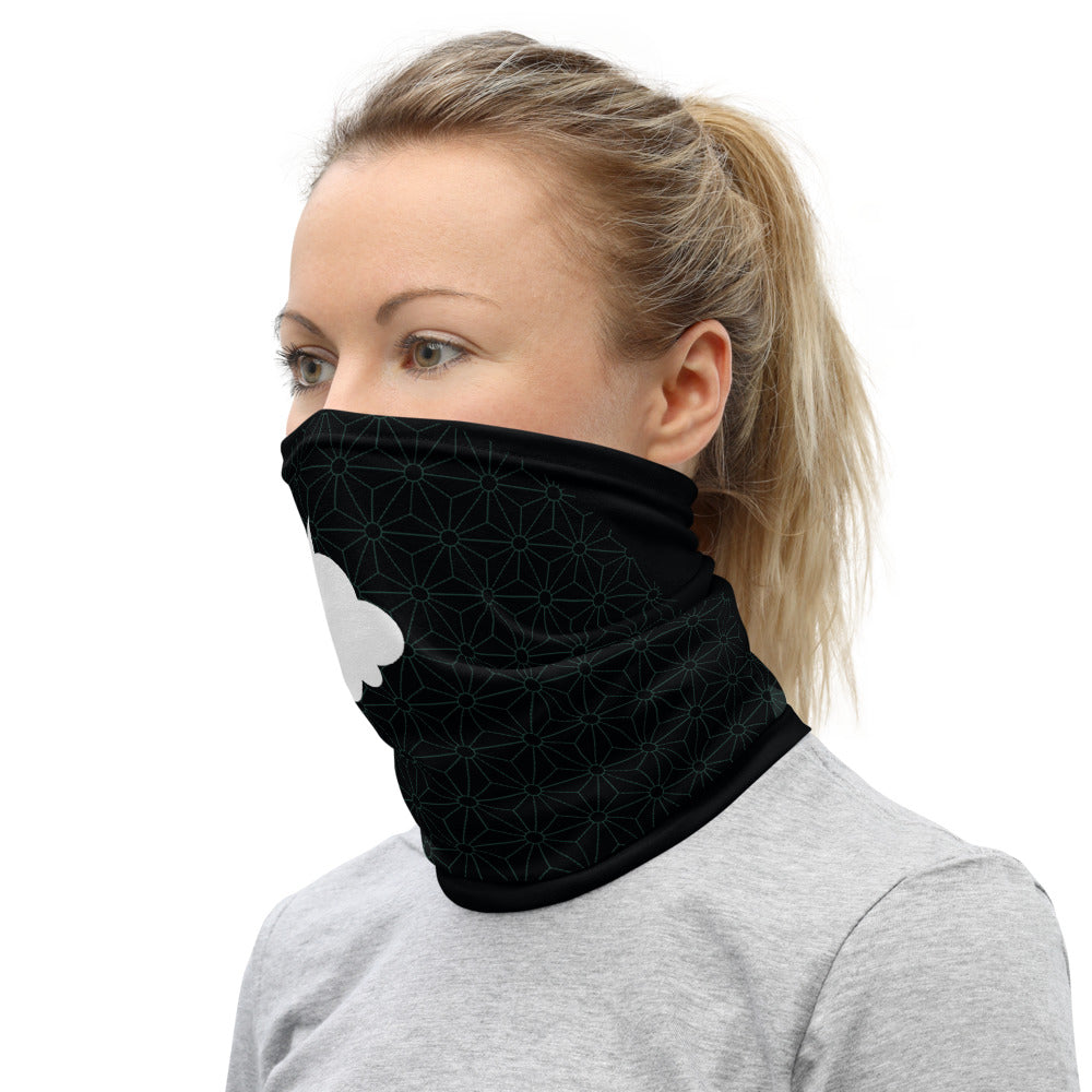 """BREATHE"" Neck Gaiter by MOKSHAMAN® in black peppermint"