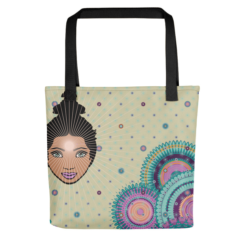 Vibrant Tote bag by MOKSHAMAN® in greige
