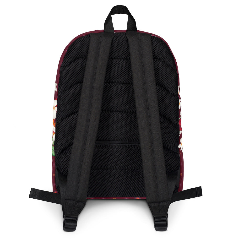 """Back to school"" Backpack by MOKSHAMAN® in burgundy"