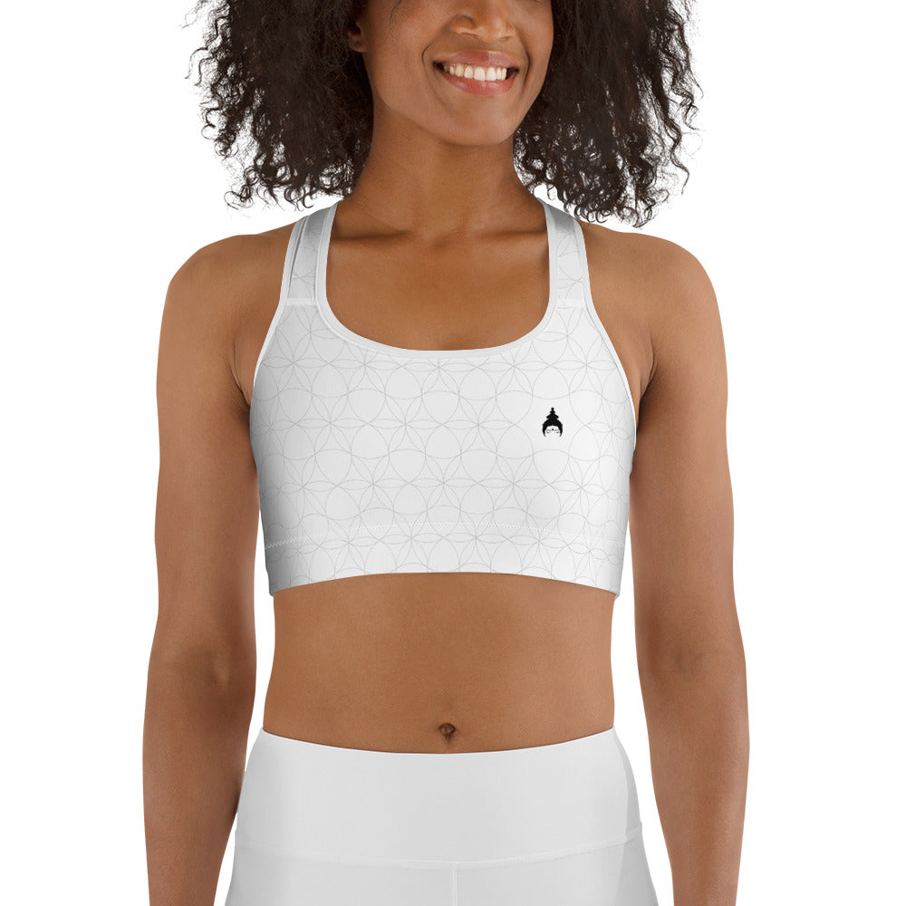 """SHINE BRIGHT"" Sports Bra in white"