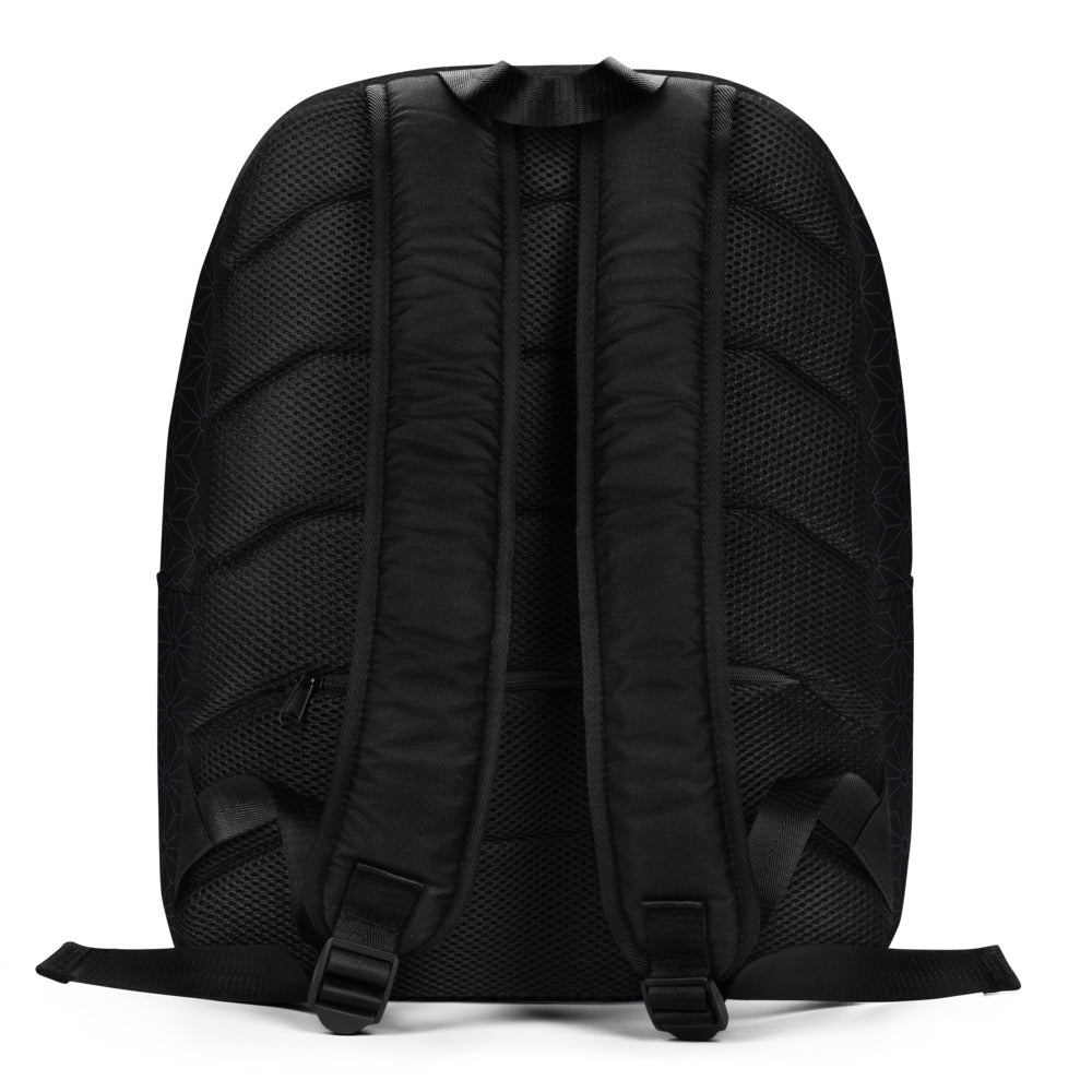 """CREW OR CARGO?"" Minimalist Backpack by MOKSHAMAN® in charcoal"