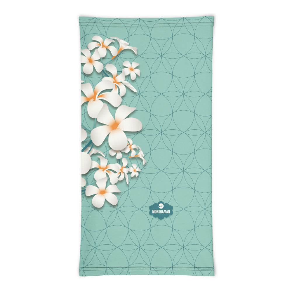 """Breathe"" Neck gaiter by MOKSHAMAN® in mint"