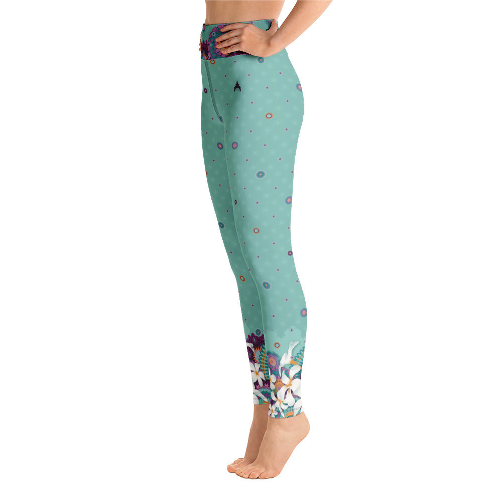 """ZOYA"" Yoga Leggins in Mint"