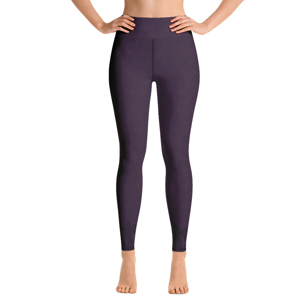 """STAY BLESSED"" Yoga Leggins in eggplant"