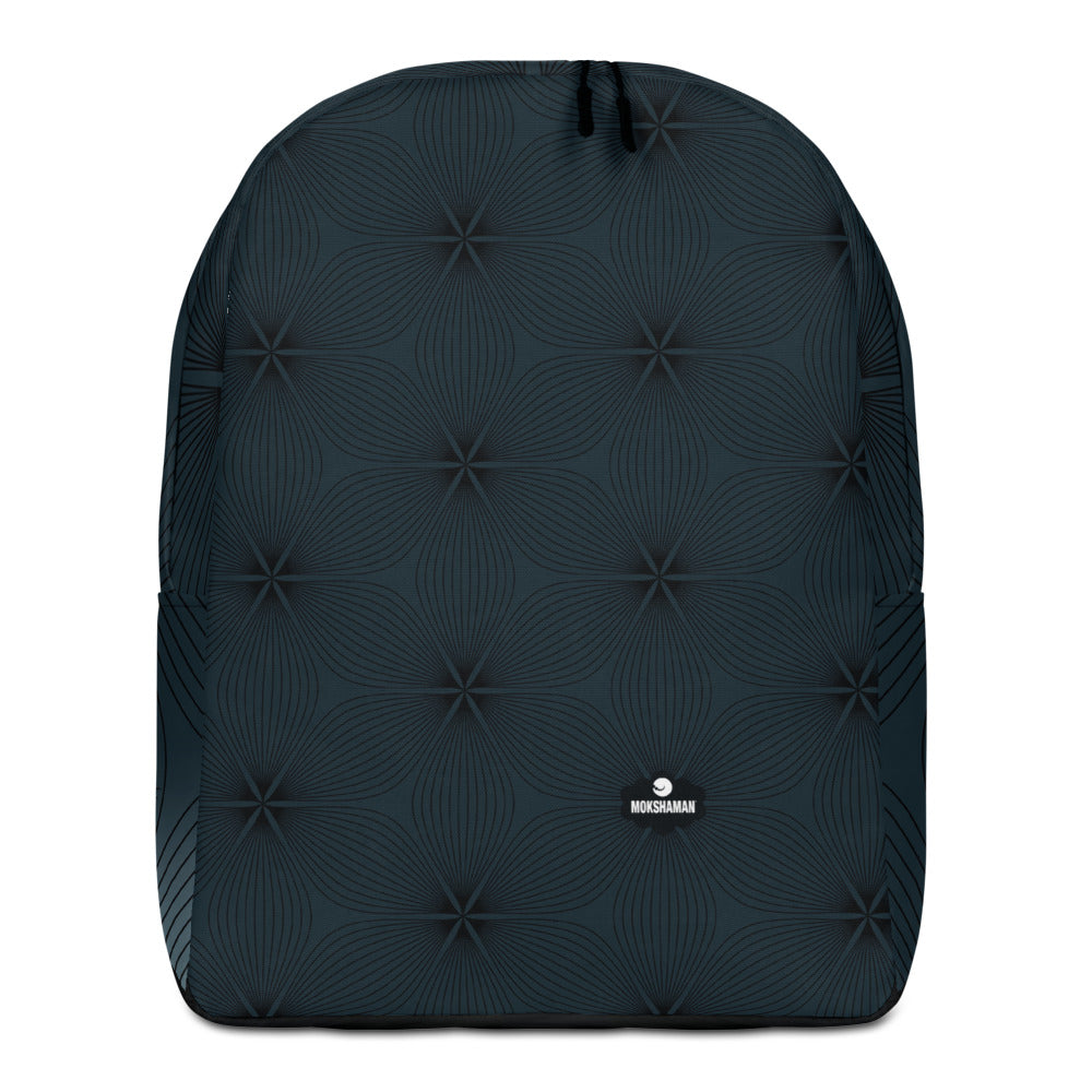 """BLOOM"" Minimalist Backpack b MOKSHAMAN® in dark petrol"