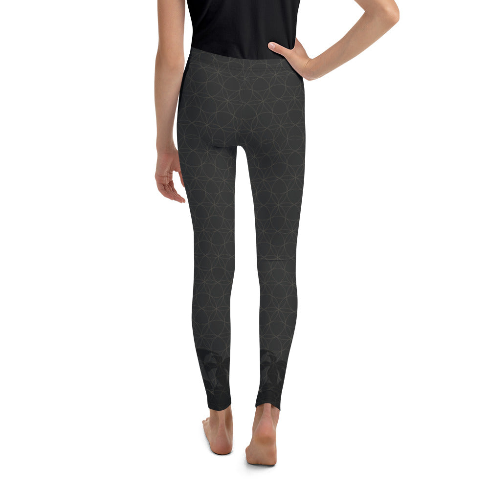 """URBAN JUNGLE"" Youth Leggins in charcoal"