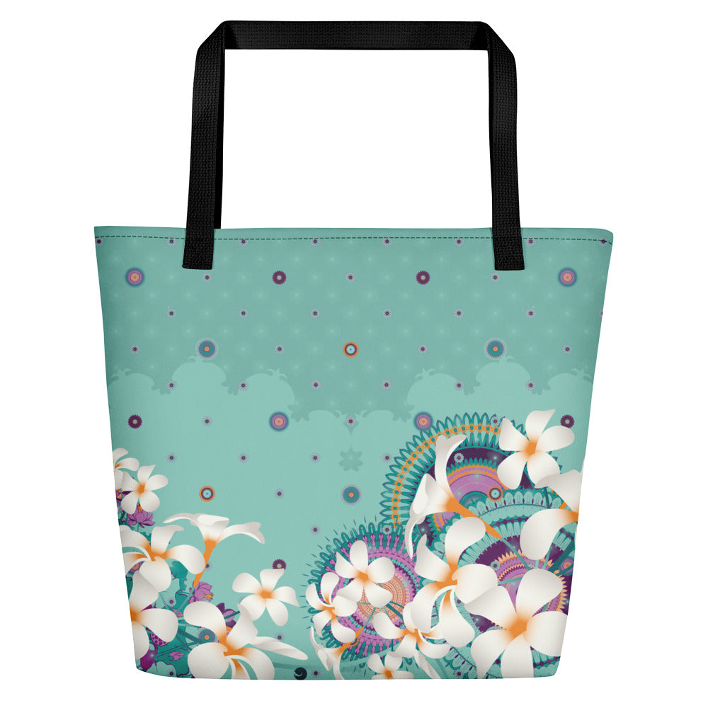Vibrant Shopping Bag by MOKSHAMAN® in petrol