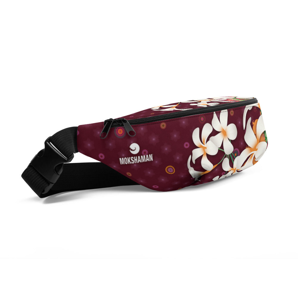 Vibrant Fanny Pack by MOKSHAMAN® in burgundy
