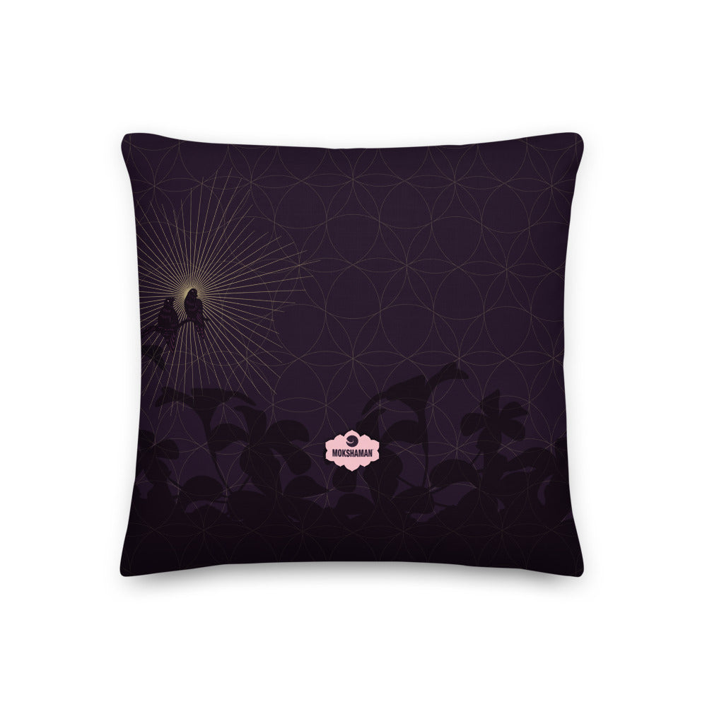 """STAY BLESSED"" Premium Pillow in eggplant, rose & gold"