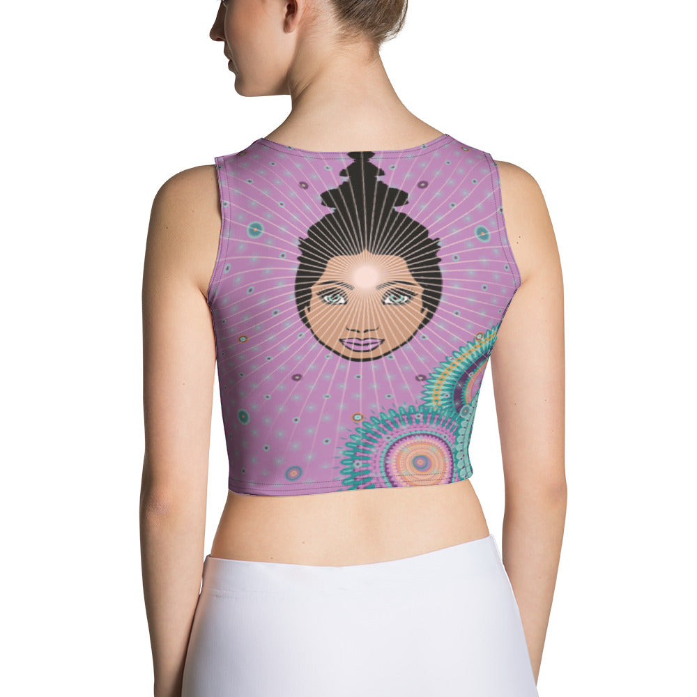 Vibrant Crop Top by MOKSHAMAN® in lilac