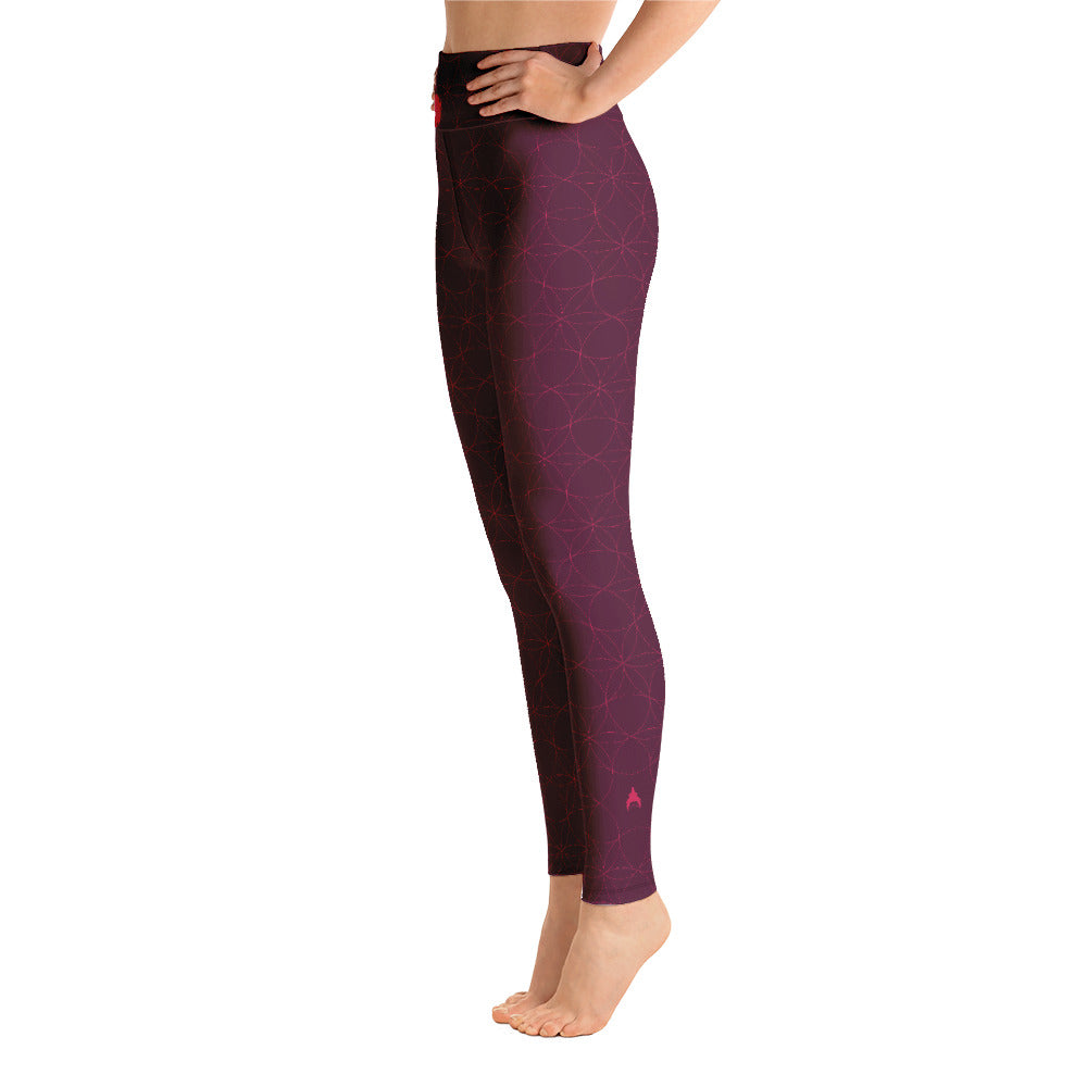 """OMAJA"" Yoga Leggins in burgundy"