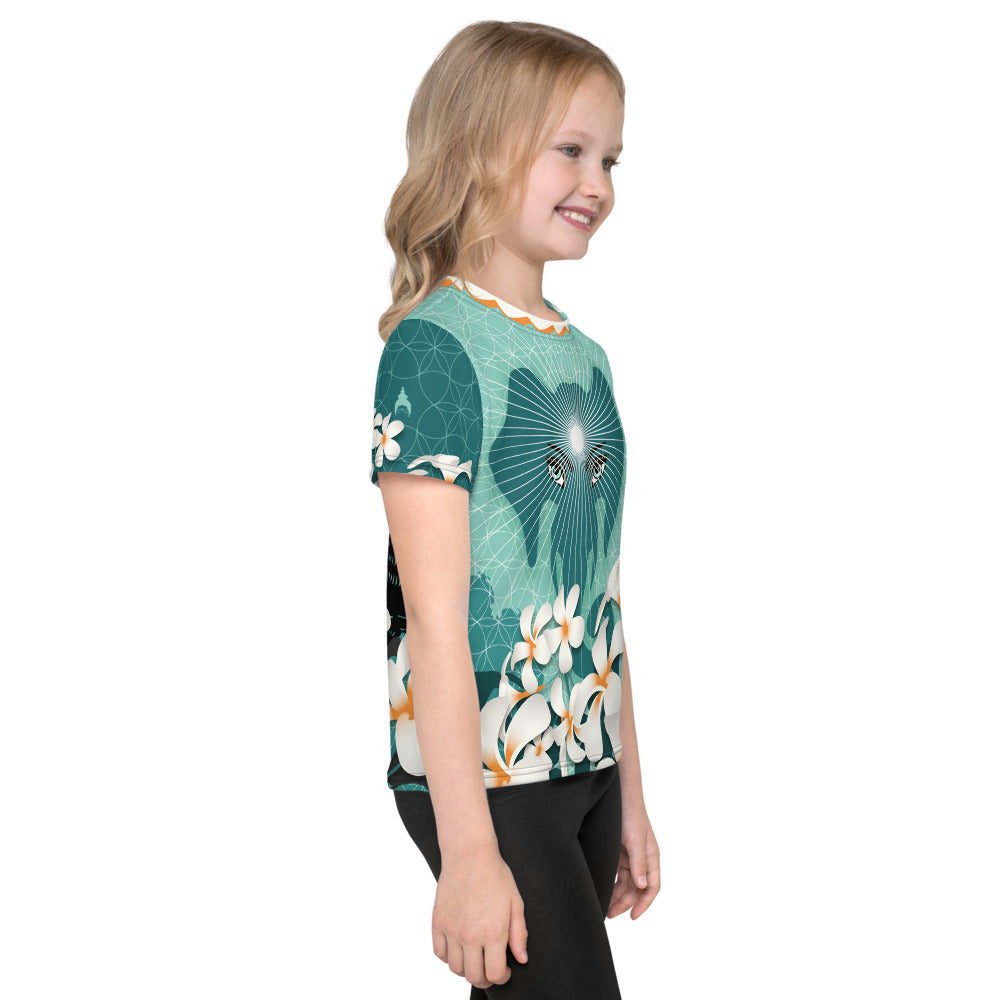 """Peppermint Jungle"" Kid's T-Shirt in mint"