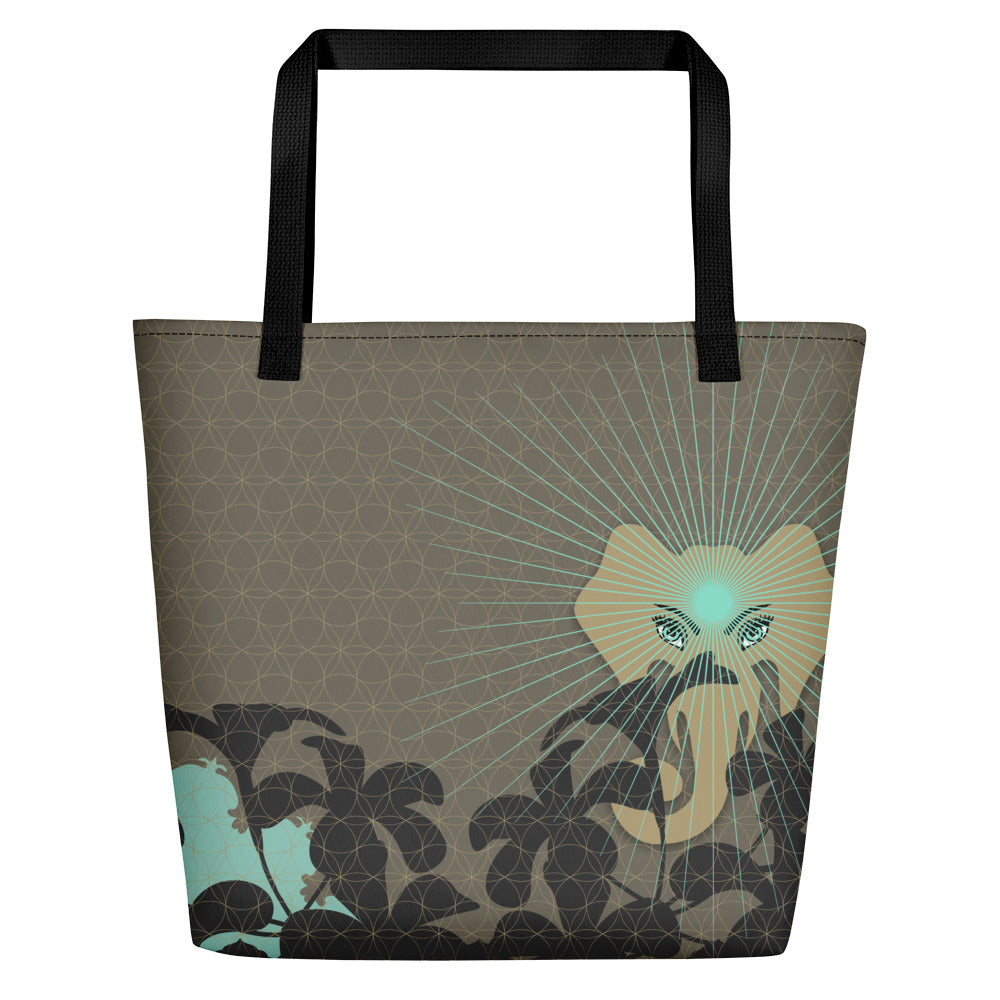 Vibrant Shopping Bag by MOKSHAMAN® in khaki