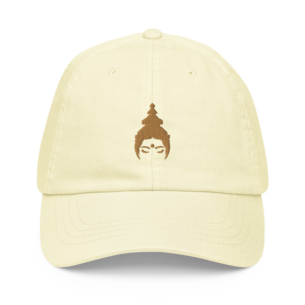 """GELATI"" Pastel hat, embroidered in gold"