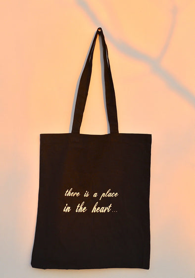 Organic Cotton Tote Bag Black - DAS MATIA