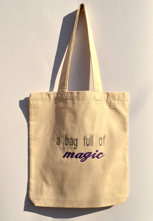 Organic Cotton Tote Bag White - DAS MATIA