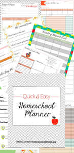 Quick & Easy Homeschool Planner Set - Digital Download