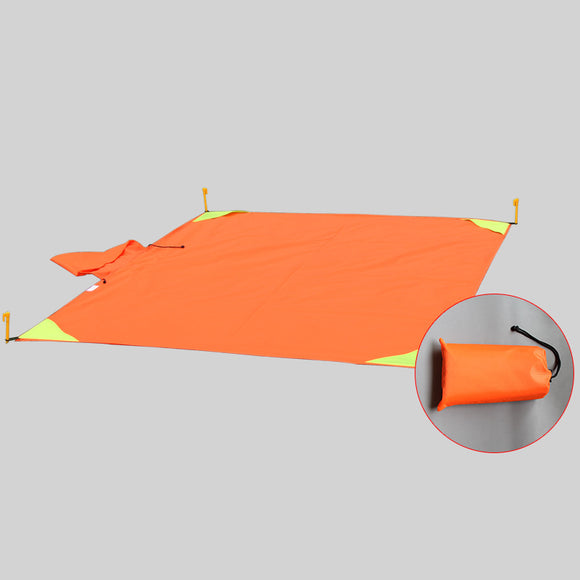 Pocket Beach Blanket Waterproof& Sand Proof& Durable, Outdoor Blanket for Camping, Hiking, Backpacking, Picnics, Festivals- 78 x 55 inches