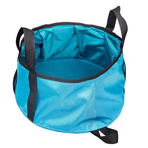 Rainleaf Collapsible Water Bucket Bag Travel Portable Wash Basin-Lightweight Travel Dog Bowl-Food-Grade Compact Folding Wash Basin
