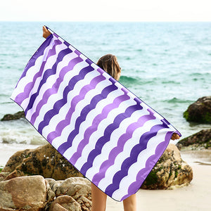 Rainleaf Microfiber Towel,Quick Dry Travel Towel Extra Absorbent Swimming Towel Sand Free Beach Towel,Compact for Sports,Camping, Backpacking, Yoga, Pilates, Bath.Oversized - XL 30x60 Inch Pur
