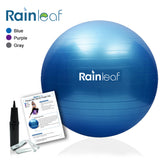 Rainleaf (55-65cm) Exercise Ball Non-Slip Thick Yoga Balance Ball,Anti Burst Yoga Ball Static Strength Ball for Home Office Gym Workout Fitness with Free Quick Pump …