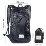 Rainleaf Packable Backpack&Daypack,Water Resistant,Great for Hiking Camping Sports Travel Day Trips,Black