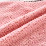 Rainleaf Wash Cloth Coral fleece Threaded Clean Towels With Hang-4 Pack