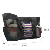 Rainleaf Extra Large Mesh Beach Bag, XXL Mesh Pool Tote Bag Zipper Closure with 8 Pockets, Great for Family Beach Trip