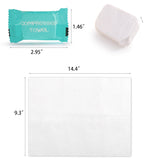 Rainleaf Magic Compressed Travel Towel Disposable Compressed Cotton Washcloth-20 pack