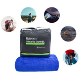 Rainleaf Microfiber Travel Towel Sports Towel Fast Drying Towel Fitness Workout Sweat Towel Bath Swimming Towel,Absorbent-Ultra Compact-Soft -Lightweight-Blue