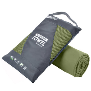Rainleaf Microfiber Towel Perfect Sports & Travel &Beach Towel. Fast Drying - Super Absorbent - Ultra Compact. Suitable for Camping, Gym, Beach, Swimming, Backpacking.Army Green