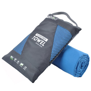 Rainleaf Microfiber Towel Perfect Sports & Travel &Beach Towel. Fast Drying - Super Absorbent - Ultra Compact. Suitable for Camping, Gym, Beach, Swimming, Backpacking.Blue
