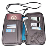Rainleaf Passport Wallets Travel Wallets Passport Holder RFID Blocking Document Organizer-Blue